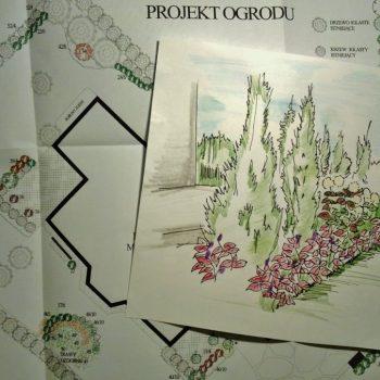 Projekt ogrodu z rysunkami poglądowymi w Białymstoku